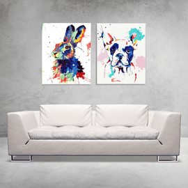 Paint By Numbers Duo Set - Pop Art Friends 60x80cm