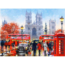 Diamond Art Picture Full Drill Size 50X65  London Magic