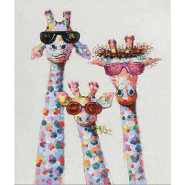 Diamond Art Picture Full Drill Size 50X65 Cool Giraffe Gang