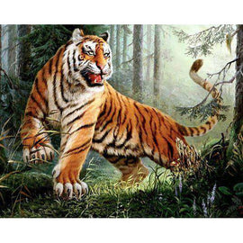 Diamond Art Picture Full Drill Size 50X65 Crouching Tiger King