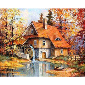 Diamond Art Picture Full Drill Size 50X65 German House