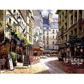Diamond Art Picture Full Drill Size 50X65 Street Painting