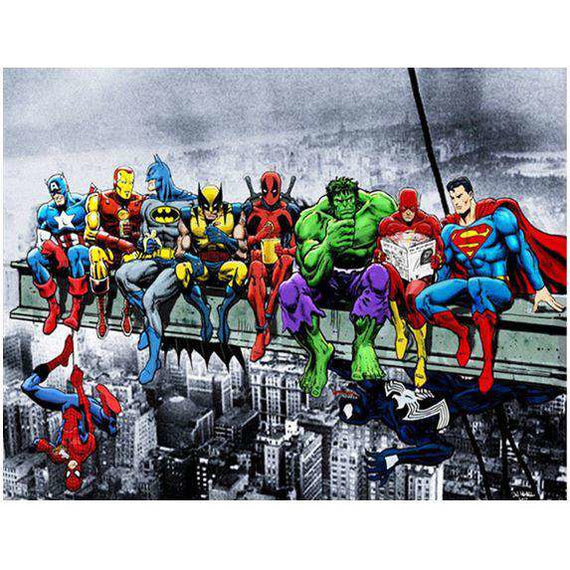 Diamond Art Picture Full Drill Size 50X65 Superheroes