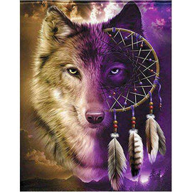 Diamond Art Picture Full Drill Size 50X65 Twilight Wolf