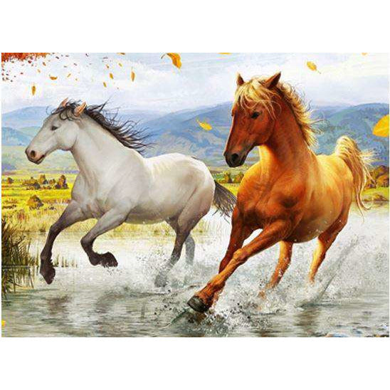 Diamond Art Picture Full Drill Size 50X65 Wild Stallion