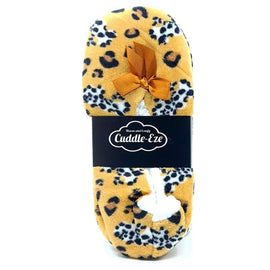 Cuddle Eze Slippers Tan Leopard