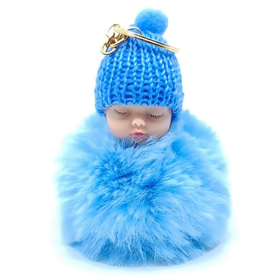 Baby Doll Key Ring Baby Blue