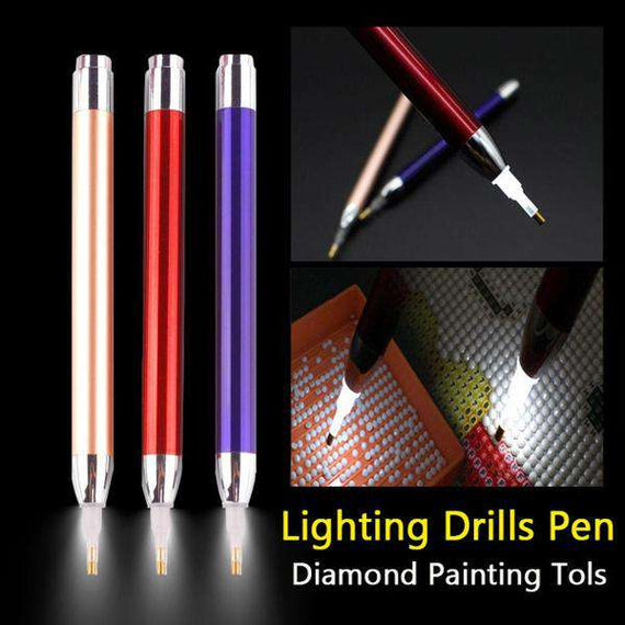 Purple Luminous Light Pen- -The Original 5D Diamond Collection