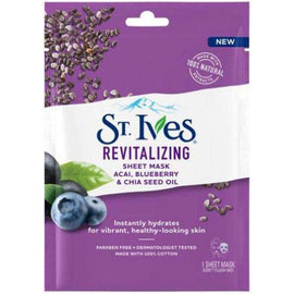 St Ives Revitalising Sheet Mask Acai & Chia Seed Single Pack