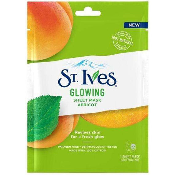 St Ives Glowing Sheet Mask Apricot Single Pack