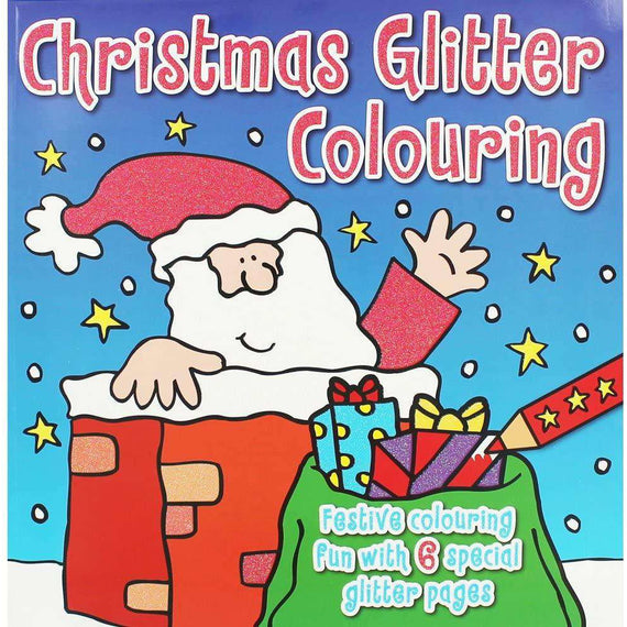 Christmas Glitter Colouring Book