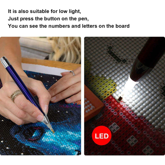 Red Luminous Light Pen-The Original 5D Diamond Collection