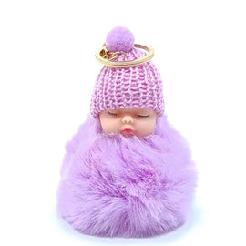 Baby Doll Key Ring Purple