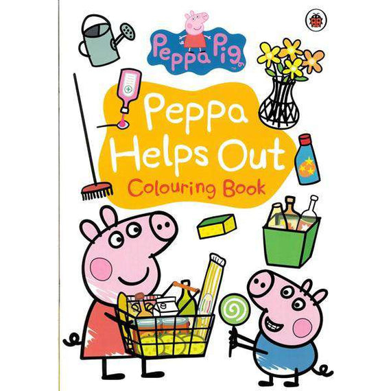 Peppa Pig- Helps Out- Colouring Book