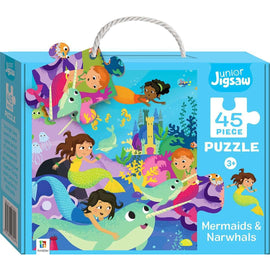 Junior Jigsaw 45 Piece Puzzle: Mermaids & Narwhals