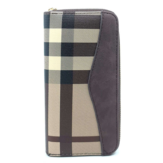 Ladies Purse Tartan Brown and Red