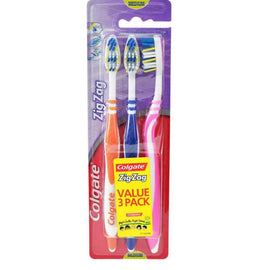 Colgate Toothbrush 3 Pk Zig Zag Medium
