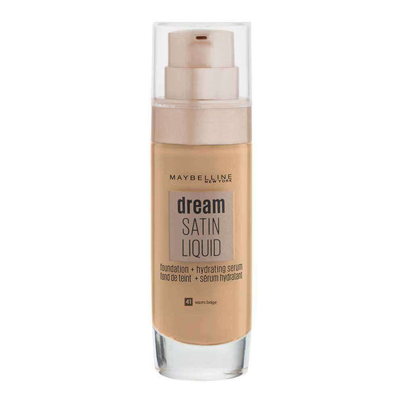 Maybelline 30Ml Dream Satin Liquid Foundation 41 Warm Beige (Carded)