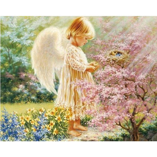 Diamond Art Picture Half Drill Size 40X50 Baby Angel
