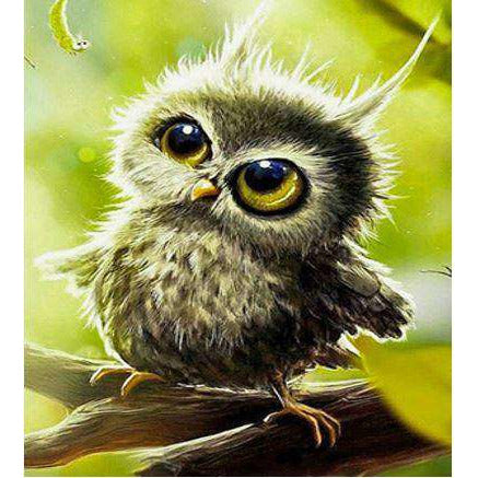 Diamond Art Picture Half Drill Size 30X40 Baby Owl