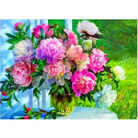 Diamond Art Picture Half Drill Size 30X40 Beautiful Flowers
