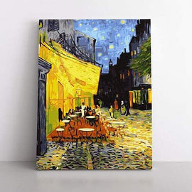 PaintbyNumber-50x70cm  café terrace at night