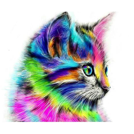 Diamond Art Picture Half Drill Size 40X50 Cat Art