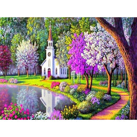 Diamond Art Picture Half Drill Size 30X40 Church