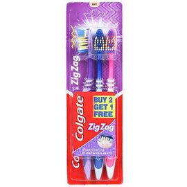 Colgate Zigzag Toothbrush 3 Pack - Medium
