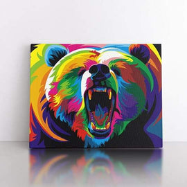 60x80cm  Colourful Bear