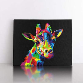 PaintbyNumber-50x70cm  Colourful Giraffe