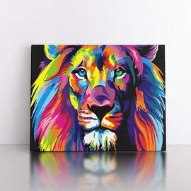 60x80cm  colourful lion
