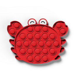 Pop It Sensory Fidget Toy Red Crab