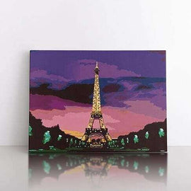 Paint by Numbers- 50x70cm  Eiffel Tower after dusk