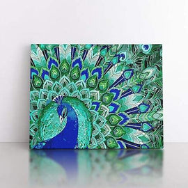 PaintbyNumber-40x50cm  Emerald peacock