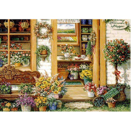 Diamond Art Picture Half Drill Size 30X40 Flower Shoppe
