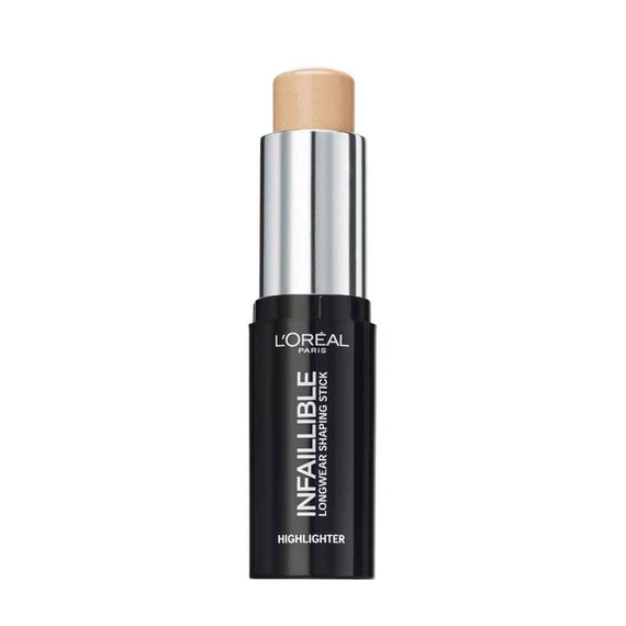 L'Oreal Infallible Highlighter Longwear Shaping Stick 502 Gold Is Cold 9g