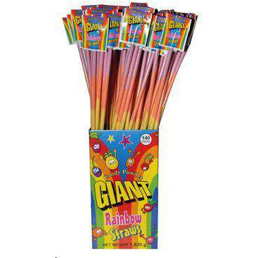 Giant Rainbow Candy Powder Sherbet Straw 13g