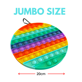 Pop it Sensory Fidget Toy Jumbo Rainbow Circle (20cm)