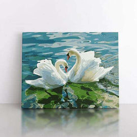 PaintbyNumber-50x70cm  Heart of the Swans