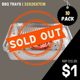 BBQ TRAYS | 10 PACK
