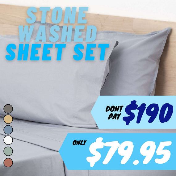 Renee Taylor Lorimer 300TC Stone washed Sheet set