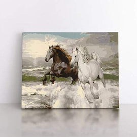 Paint By Numbers- 40x50cm  Horses Running Wild