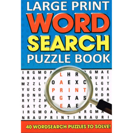 Large Print Word Search Puzzle Book Blue
