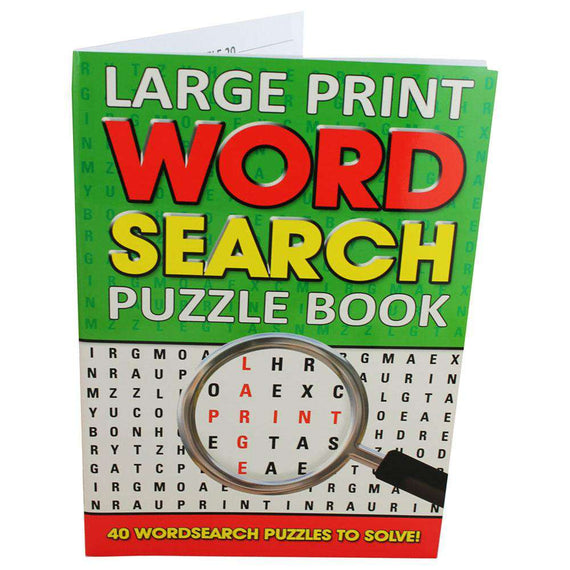 Large Print Word Search Puzzle Book Green