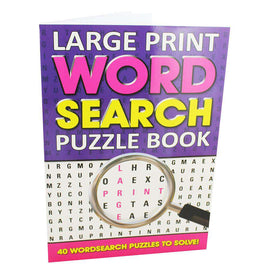 Large Print Word Search Puzzle Book Purple