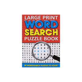Large Print Word Search Puzzle Book Red