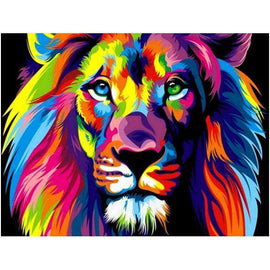 Diamond Art Picture Half Drill Size 30X40 Lion Art