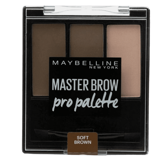 Maybelline 3.4G  Brow Drama Palette Soft Brown (Non Carded)