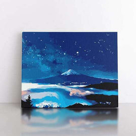 60x80cm  Mt Fuji after dark